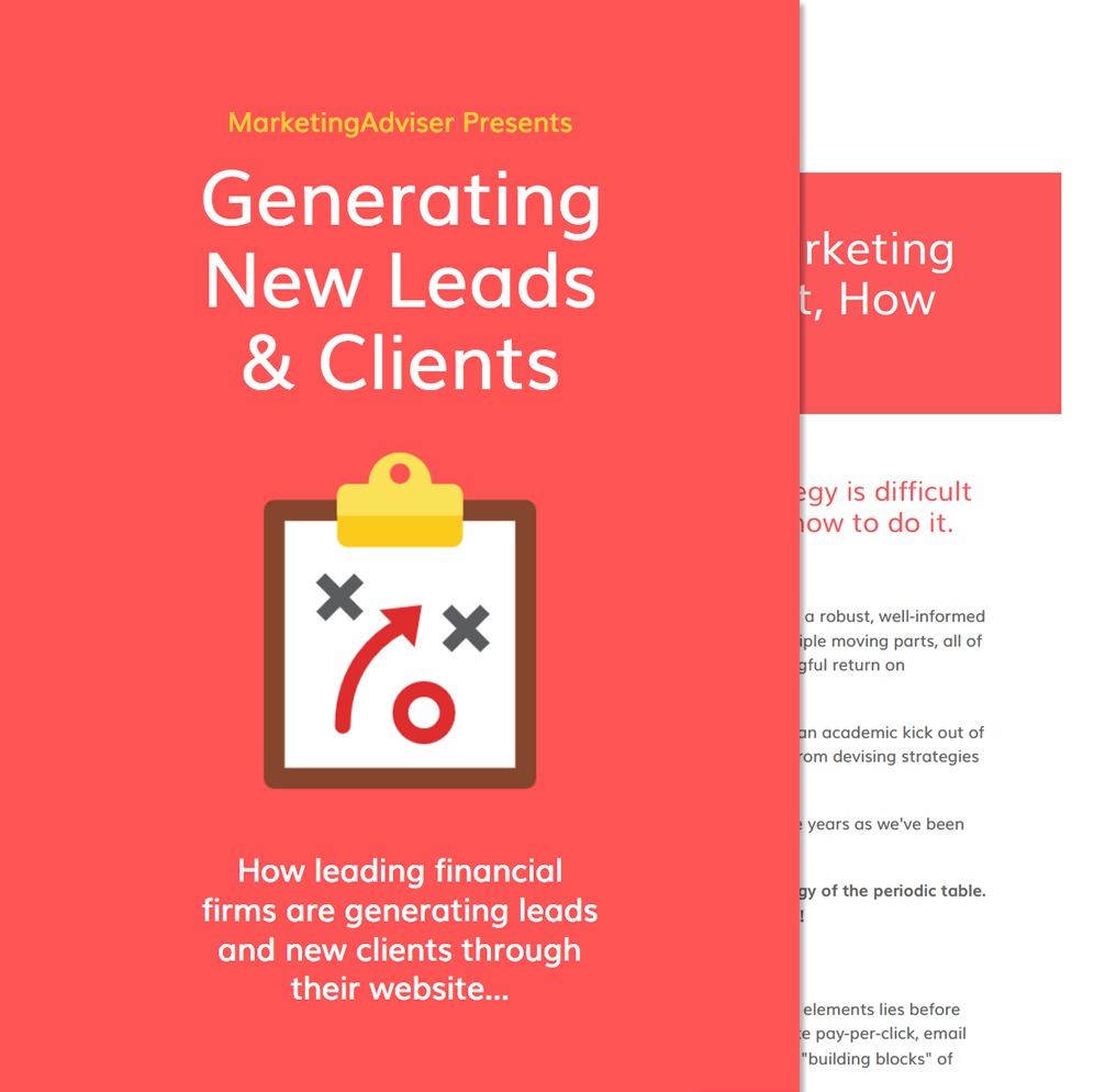 An ebook download with information on how to generate new leads through effective financial marketing