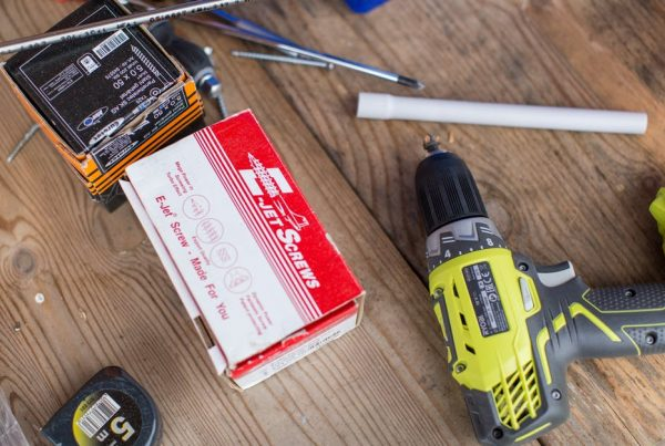 DIY Financial Marketing - a set of tools on a workbench