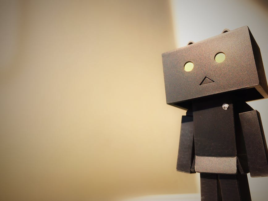 lonely robot showing isolation in finance content marketing