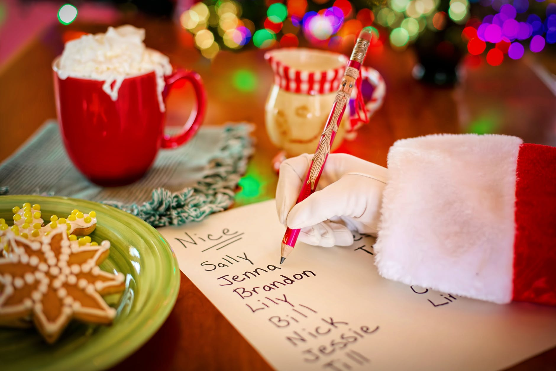 Santa checking off his financial marketing strategy checklist!