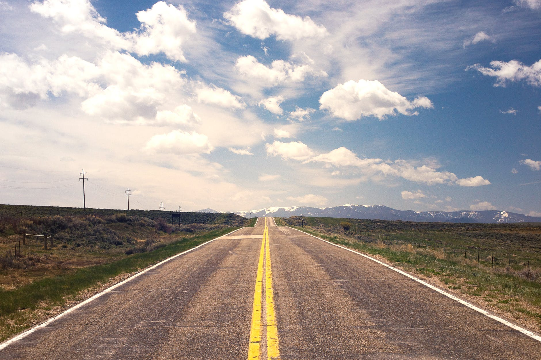 A road, illustrating going forward in financial marketing