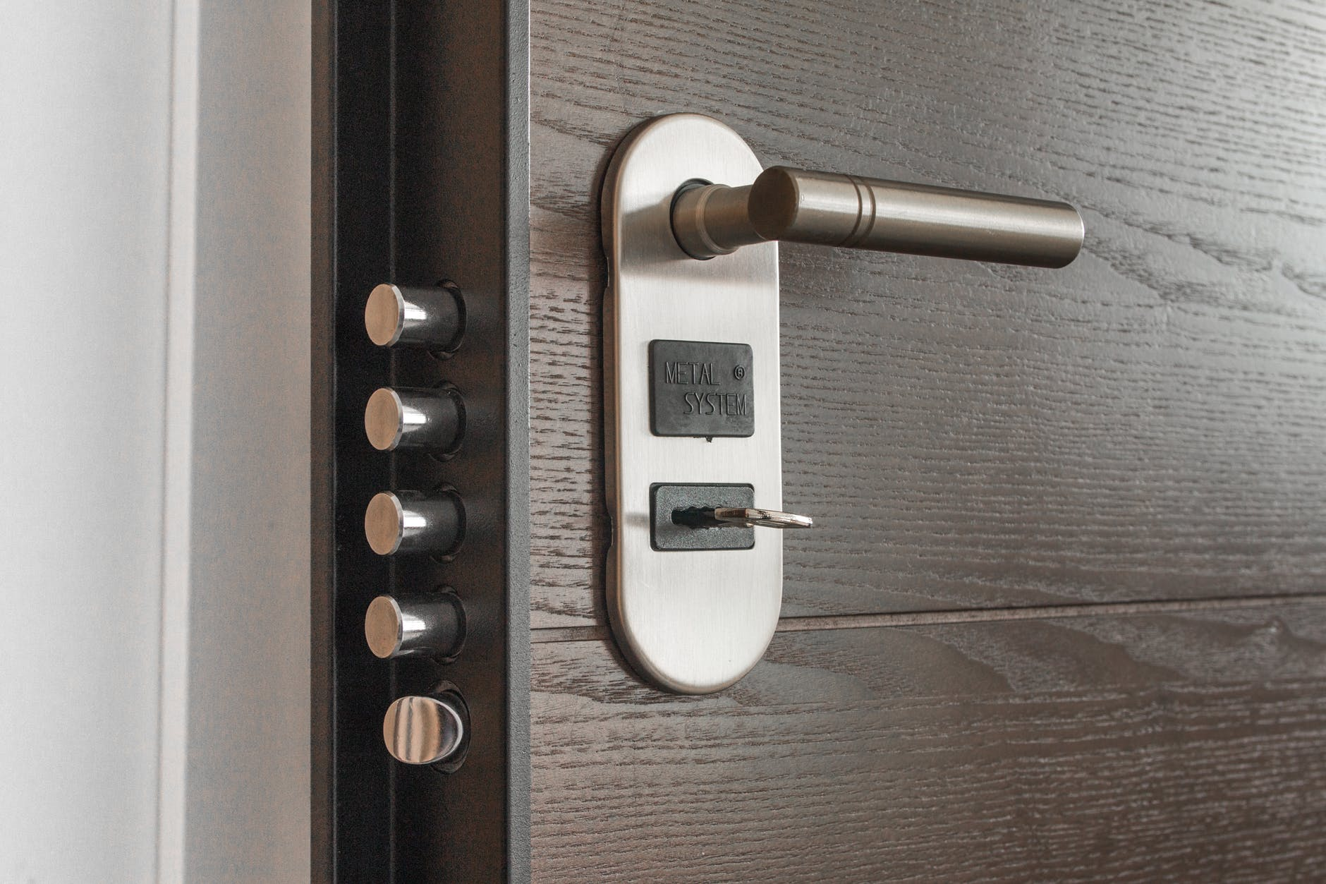 locked door, illustrating security for financial marketing and websites