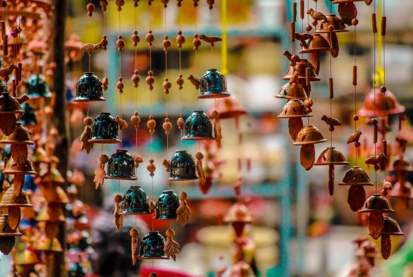 Financial marketing selling words, picture of chiming bells