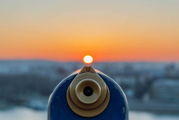 Telescope, illustrating foresight in financial marketing