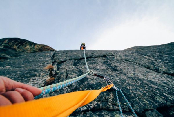 Picture illustrating how Facebook ads can feel like climbing a mountain in financial marketing