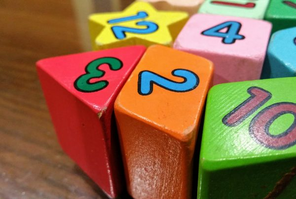 Number blocks, showing the importance of numbers to financial marketing services