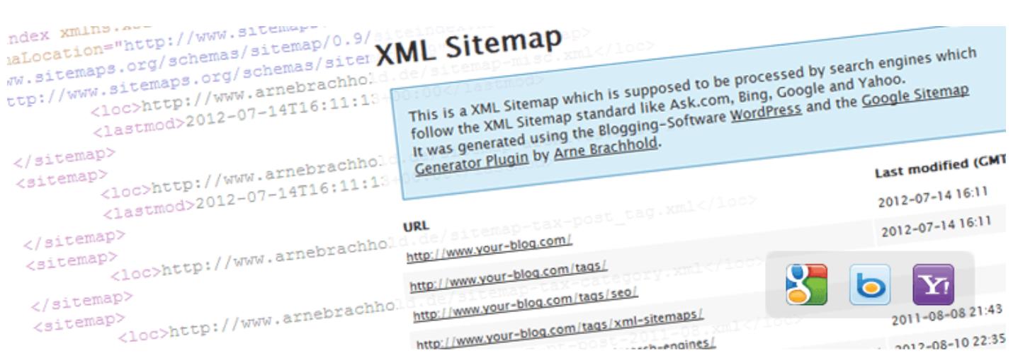 Google XML sitemaps plugin for financial adviser marketing