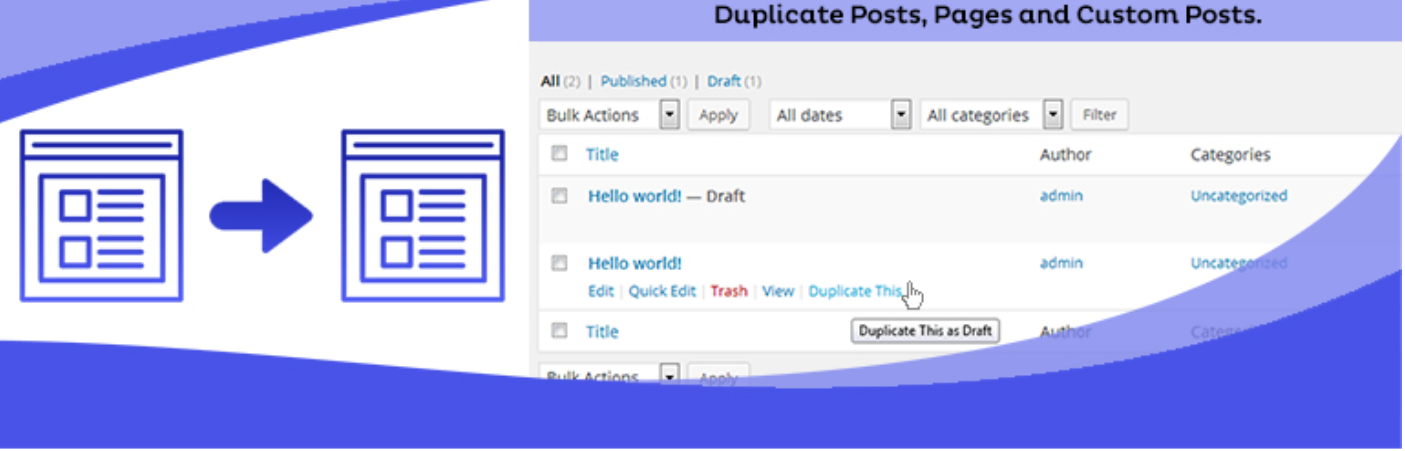 Duplicate page plugin for financial adviser marketing