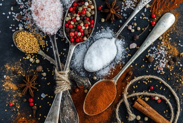 Spices arranged on a table, illustrating the financial marketing mix